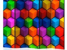 Paraván - Colorful Geometric Boxes II [Room Dividers]